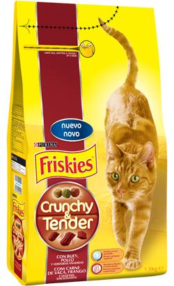 Friskies Gato Crunchy & Tender | Carne de Vaca, Frango e Vegetais 1.5 kg