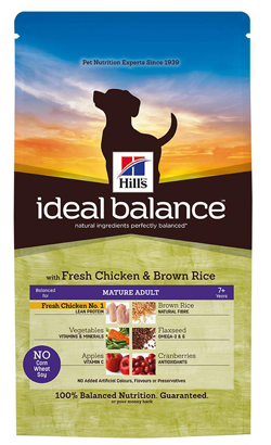 Hills Ideal Balance Canine Mature Adult with Fresh Chicken & Brown Rice 12 kg