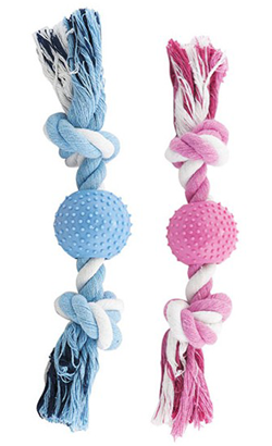Nayeco Bicolour Cotton Rope with Spike Ball Azul