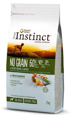 True Instinct Dog No Grain Medium & Maxi Adult Salmon