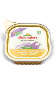 Almo Nature Dog DailyMenu Bio Puppy with Chicken and Milk | Wet (Terrina) 4 X 100 g