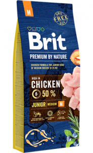 Brit Blue Nature Junior Medium Dog 15 kg